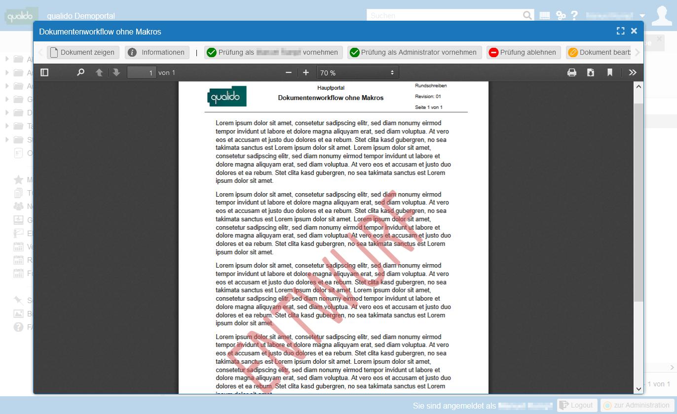 Dokumentenworkflow ohne Makros
