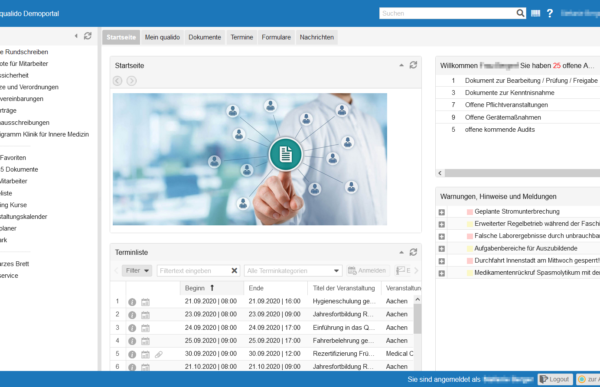 qualido manager 5.0 - Neues Design und modernerer Look