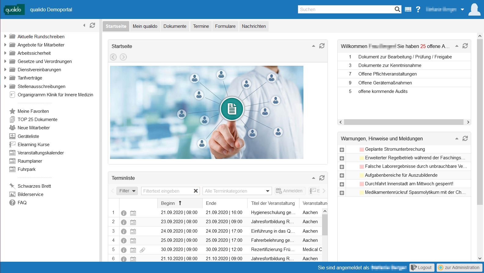qualido manager 5.0 - Neues Design und modernerer Look