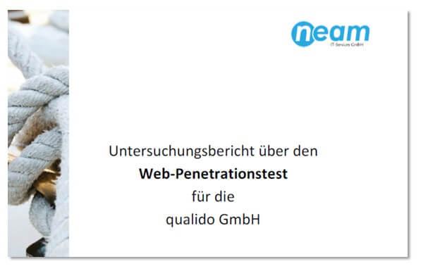 Untersuchungsbericht Penetrationtest qualido GmbH